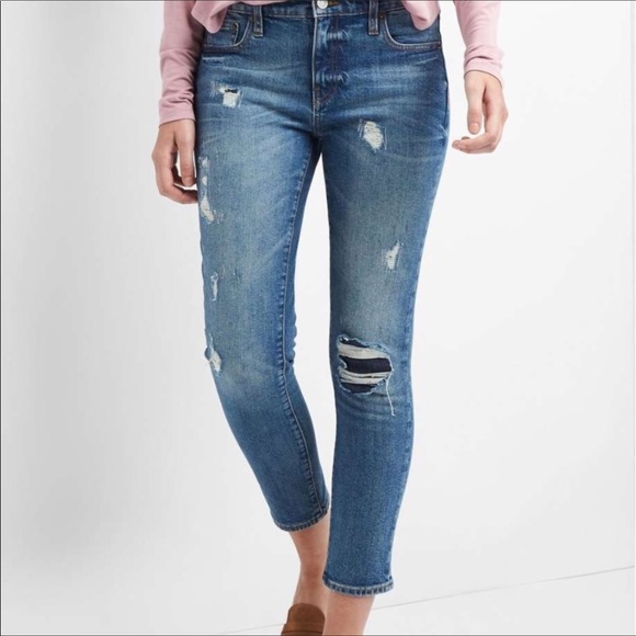 GAP Denim - GAP | Distressed High Rise Girlfriend Denim Jeans